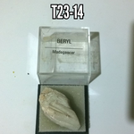 Beryl natural Crystal specimen in box #3